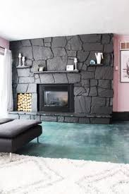 White Washed Stone Fireplace Life by Amazing Tutorial On Painting A Dark Stone Fireplace To Look