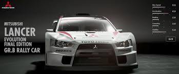 mitsubishi rally car mitsubishi lancer evolution final edition gr b rally car gran