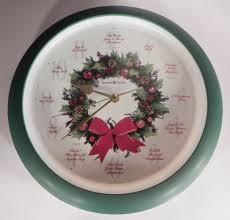 howard miller 12 carols of christmas wall clock beautiful