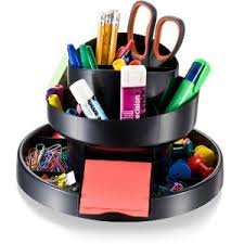 Small Desk Organizer by Amazon Com Officemate Deluxe Rotary Organizer 16 Compartments