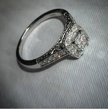 Kay Jewelers Wedding Rings Sets by Kay Diamond Engagement Ring 1 2 Ct Tw Princess Cut 14k White Gold
