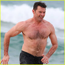 Hugh Jackman Hugh Jackman Goes Shirtless At The With His Trainer