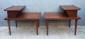 mid century end table pair mid century end tables rusty gold design in table 12