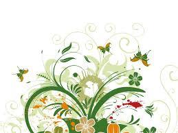 classic flower pattern powerpoint templates flowers green