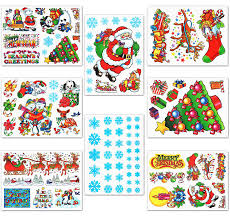 amazon com christmas window clings decals home u0026 kitchen