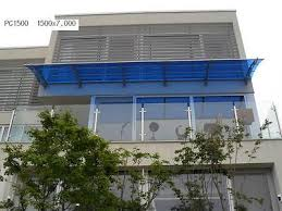 Wall Awning Polycarbonate Canopy Door Window Awning Adjust Wall Clear Blue