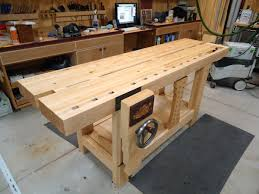 Build Wood Workbench Plans by Ruobo Workbench Build The Split Top Roubo Workbench With The