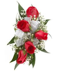 Red Rose Wrist Corsage Five Red Rose Corsage Royer U0027s Flowers And Gifts Flowers