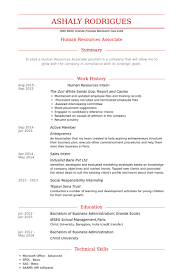 Hr Resume Templates Human Resources Intern Resume Samples Visualcv Resume Samples