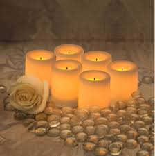 Electric Candles For Windows Decor Decorating Cozy Flameless Candles With Timer Set In Six For Home