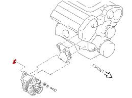 oem upper alternator pivot bolt nut z1 motorsports