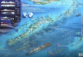 Map Of Key West Florida Florida Keys 3d Dive Maps Waterproof Map Art To Media