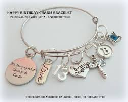 Birthday Charm Bracelet Happy Birthday Charm Bracelet For Granddaughter Birthday Gift For