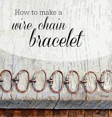 chain link bracelet patterns images How to make a wire chain bracelet jewelry making tutorial jpg