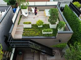 image of roof decking garden featuring light solid beaumont