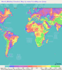 world map by cities world elevation map elevation and elevation maps of cities