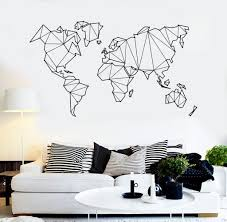 vinyl wall decal abstract map world geography earth stickers vinyl wall decal abstract map world geography earth stickers 838ig