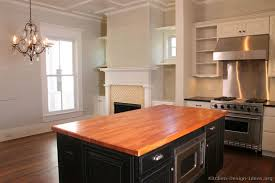 kitchen island with wood top pictures of kitchens traditional two tone kitchen cabinets