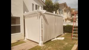 Patio Cover Shade Cloth by Shade Cloth Installation On Patio Cover Youtube