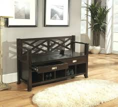 entryway benches with backs comfortable black wooden foyer bench storage back of entryway with