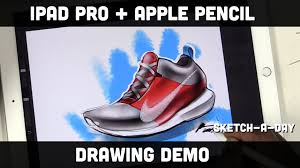 ipad pro shoe sketch using apple pencil and pro create youtube
