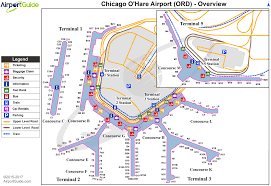 chicago o hare terminal map chicago chicago o hare international ord airport terminal maps