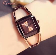 luxury bracelet watches images Hk brand kimio luxury watches women square watch stainless steel jpg