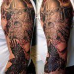 meaningful viking sleeve in progress tattoogettattoo on deviantart