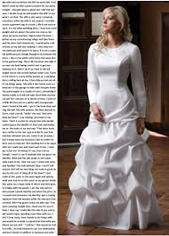 wedding dress captions crossdresser with a supportive spouse http www