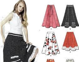 skirt pattern etsy