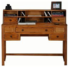 writing desk with hutch contemporary writing desk oak ridge writing desk w hutch dark oak