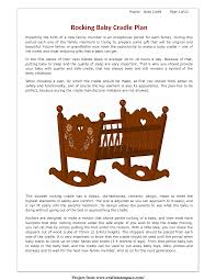 Free Wooden Cradle Plans by Baby Doll Cradle Woodworking Plans Plans Diy Free Download Gaming