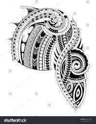 maori sleeve maori style tattoo design chest sleeve stock vector 556679965