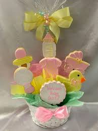 cookie bouquet it s a girl cookie bouquet cinderella cakes