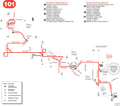 Muni Route Map by 101 Bus Schedule Vta Sf Bay Transit