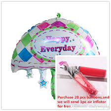 inflated balloon delivery foil balloons party decoration 18 inch umbrella foil balloons