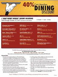 restaurant discounts 2017 dining discounts for disney cast members elly and