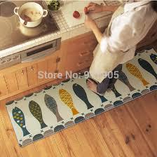 tapis de cuisine lavable en machine trois pièces poissons cuisine tapis molleton petit tapis lavable