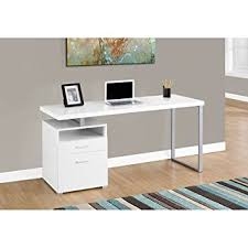 Metal Computer Desk Monarch Metal Computer Desk White Silver 60