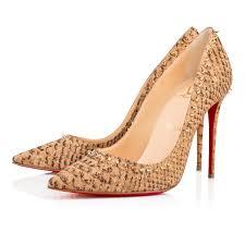 anjalina 100 gold cork ecorce women shoes christian louboutin