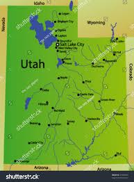 Map Of Utah And Arizona by Detailed Vector Map Utah State Usa Stock Vector 37989049