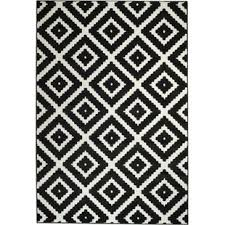 White And Black Area Rug Black Blue Rugs You Ll Wayfair