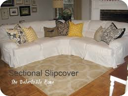 Slipcovered Sectional Sofas Furniture Sectional Sofa Covers New The Delectable Home