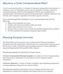 crisis communication plan template 3 free word documents
