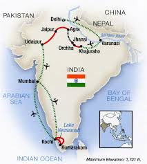 Agra India Map by Tauck Tours Review Portrait Of India