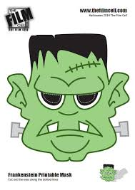 printable halloween masks download kids frankenstein ideal