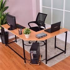 Desk L Modern Goplus L Shaped Corner Computer Desk Pc Latop Study Table Modern