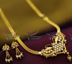 gold jewellery necklace sets images Nl2051 22ct gold plated south indian traditional jewellery JPG