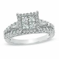 princess cut engagement rings zales 1 1 5 ct t w princess cut engagement ring in 14k