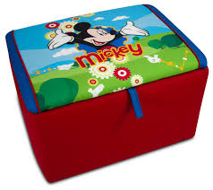 Childrens Storage Ottoman Disney Mickey Mouse Clubhouse Upholstered Storage Box